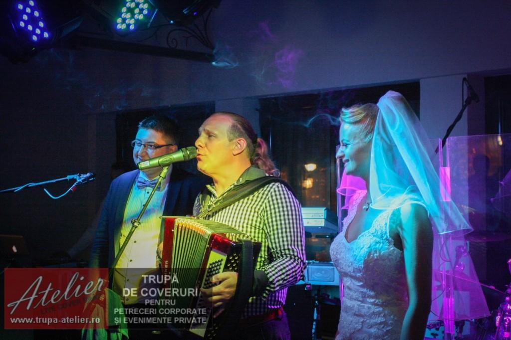Vali Crăciunescu (acordeon) nuntă București